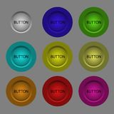 3d buttons. Of various colors Stock Photo