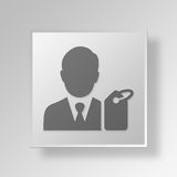 3D buyer icon Business Concept Stock Photo