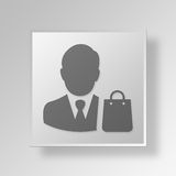 3D buyer icon Business Concept Royalty Free Stock Images