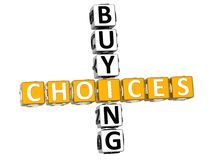 3D Buying Choices Crossword. On white background Royalty Free Stock Photos