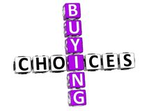 3D Buying Choices Crossword. On white background Stock Image