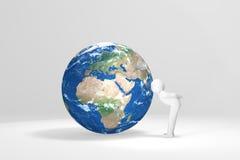 3D buziaków ludzka ziemia - Europa, Afryka, Środkowy Wschód Zdjęcia Royalty Free