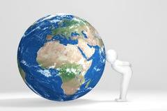 3D buziaków ludzka ziemia - Europa, Afryka, Środkowy Wschód Obraz Royalty Free