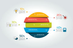 3d círculo, infographic redondo, plantilla, carta, esquema, diagrama, tabla, horario, elemento libre illustration