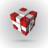 3d cúbico Imagem de Stock