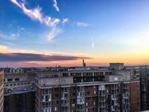 d c domu white Waszyngton C Linia horyzontu przy świtem z różowymi chmurami Zdjęcia Stock