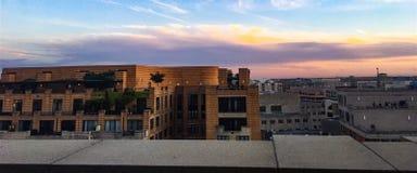 d c domu white Waszyngton C Linia horyzontu przy świtem z różowymi chmurami Zdjęcie Royalty Free