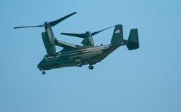 D.C. Osprey. A military Osprey with the Presidents colors flys over Washington D.C Stock Photos