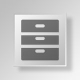 3D Cabinet icon Business Concept. 3D Symbol Gray Square Cabinet icon Business Concept Stock Photography