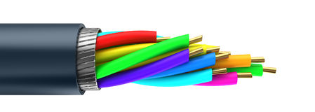 3d cable Stock Photos