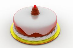 3d cake concept Stock Images