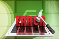 3d calculator error illustration Stock Image