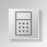 3D Calculator icon Business Concept. 3D Symbol Gray Square Calculator icon Business Concept Stock Photo