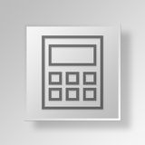 3D Calculator icon Business Concept. 3D Symbol Gray Square Calculator icon Business Concept Stock Images