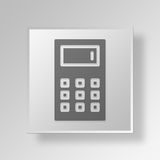 3D Calculator icon Business Concept. 3D Symbol Gray Square Calculator icon Business Concept Royalty Free Stock Image
