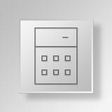 3D Calculator icon Business Concept. 3D Symbol Gray Square Calculator icon Business Concept Royalty Free Stock Images