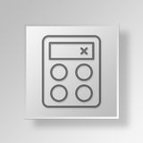 3D Calculator icon Business Concept. 3D Symbol Gray Square Calculator icon Business Concept Stock Photos