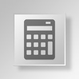 3D Calculator icon Business Concept. 3D Symbol Gray Square Calculator icon Business Concept Royalty Free Stock Photos
