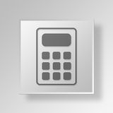 3D Calculator icon Business Concept. 3D Symbol Gray Square Calculator icon Business Concept Royalty Free Stock Photography