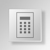 3D Calculator icon Business Concept. 3D Symbol Gray Square Calculator icon Business Concept Stock Photography