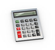 3d calculator. 3d illustration of calculator on white background Stock Image