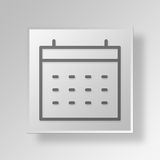 3D Calendar Attention icon Business Concept Stock Photo