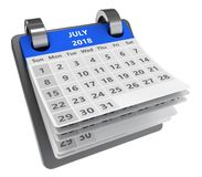 3d calendar Royalty Free Stock Photo