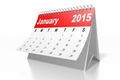 3D 2015 CALENDAR... Royalty Free Stock Photography