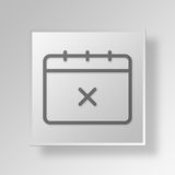 3D Calendar icon Business Concept. 3D Symbol Gray Square Calendar icon Business Concept Royalty Free Stock Images