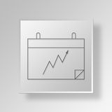 3D Calendar icon Business Concept. 3D Symbol Gray Square Calendar icon Business Concept Royalty Free Stock Photo