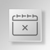 3D Calendar icon Business Concept. 3D Symbol Gray Square Calendar icon Business Concept Royalty Free Stock Photography