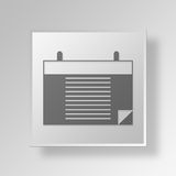 3D Calendar icon Business Concept. 3D Symbol Gray Square Calendar icon Business Concept Stock Images