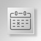 3D Calendar icon Business Concept. 3D Symbol Gray Square Calendar icon Business Concept Stock Photo