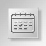 3D Calendar icon Business Concept. 3D Symbol Gray Square Calendar icon Business Concept Stock Photos
