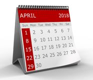 3d calendar isolated Royalty Free Stock Images