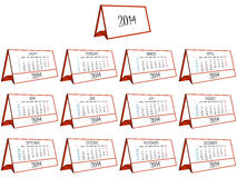 3d calendar 2014 Royalty Free Stock Image