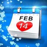 3D calendar showing valentine's day Stock Photography