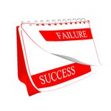 3D Calendar success. Calendar about success and failure Royalty Free Stock Photo