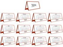 3d calendario 2014 Imagen de archivo libre de regalías