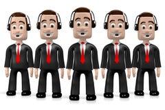 3D call center concept vector illustration