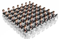 3D call center concept royalty free illustration