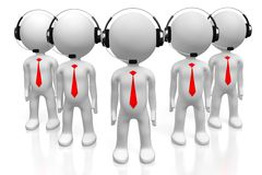 3D call center concept Royalty Free Stock Image