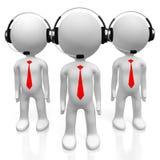 3D call center concept Royalty Free Stock Photo
