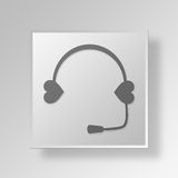 3D Call Center icon Business Concept Stock Photo