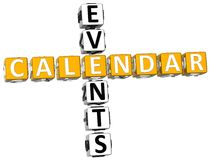 3D Callendar Events Crossword Stock Images