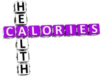3D Calories Healt Crossword Royalty Free Stock Image