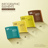 3d cambered surface solid infographic elements. 3d modern vector abstract cambered surface solid infographic elements Royalty Free Stock Image