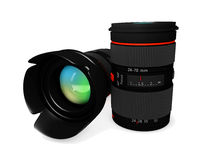 3d Camera Lens on a white background. Camera Lens on a white background Royalty Free Stock Photo