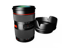 3d Camera Lens on a white background. Camera Lens on a white background Royalty Free Stock Photos