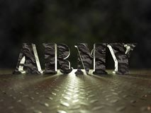 3D camouflage Army word stock images